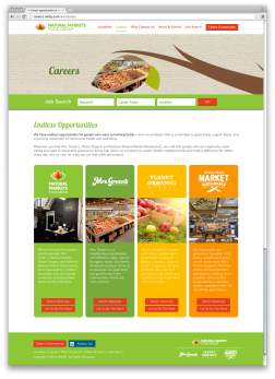 Responsive Careers Website: Careers Page