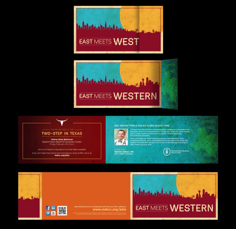 Custom print invitation with short fold